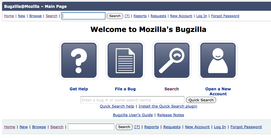 Bugzilla screenshot