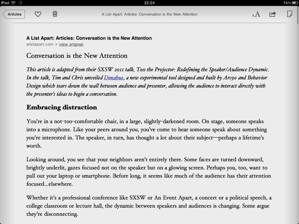 Instapaper Screenshot